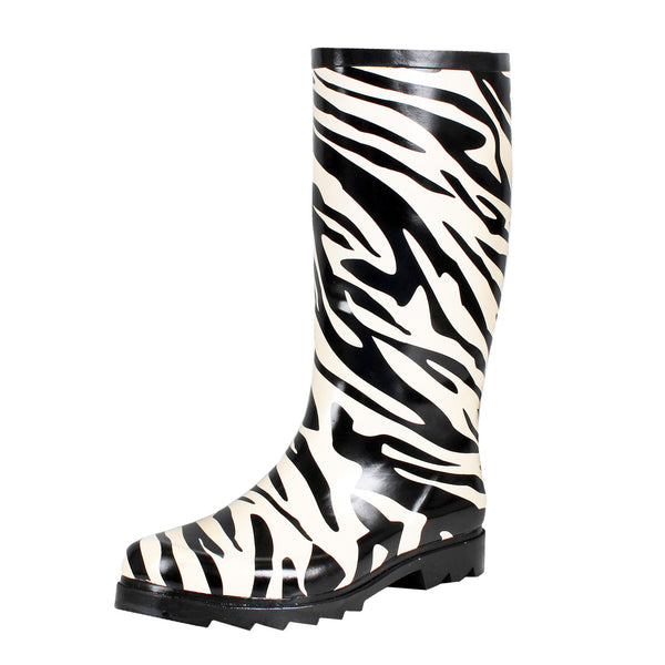 Animal Print Snow Rain Mid-Calf Boots