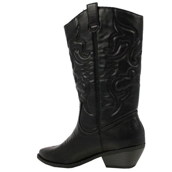 Reno-S Embroidered Western Mid-Calf Boots