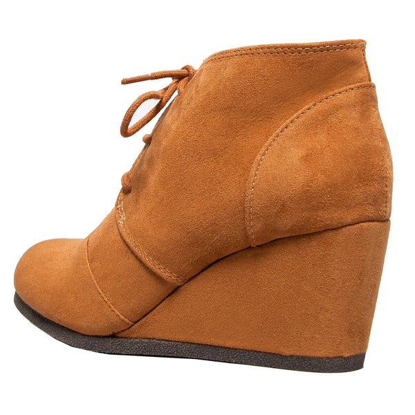 Rex-S Lace Up Wedge Ankle Boots