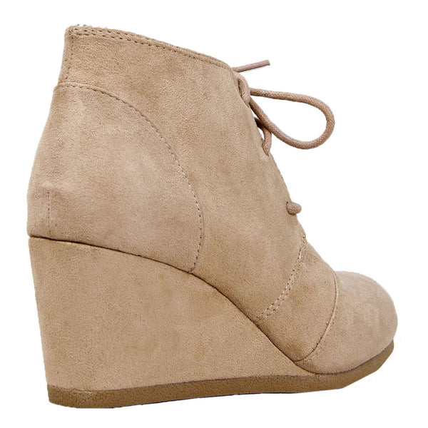 Rex Lace Up Ankle Wedge Boots