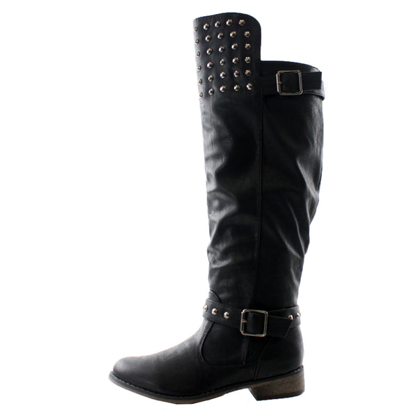 Rider-23 Studded Equestrian Tall Riding Boots