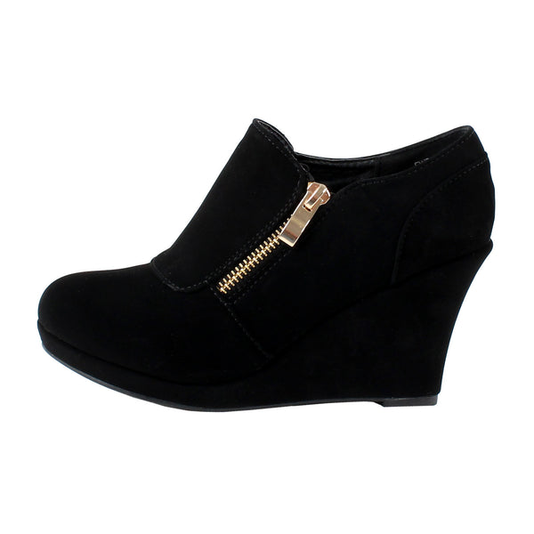 Rita-2 Zipper Wedge Ankle Booties