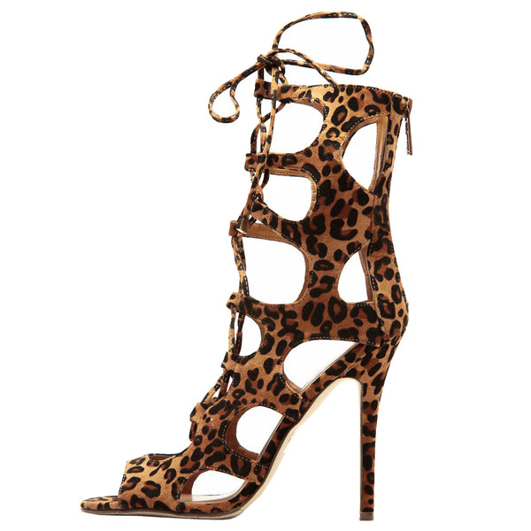 Roma-31 Cut Out Gladiator Stiletto Heels