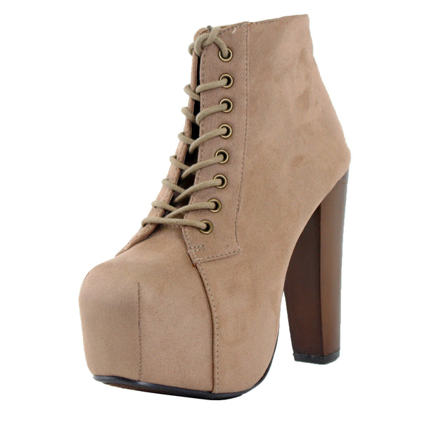 Rosa-S Lace Up High Heel Ankle Boots