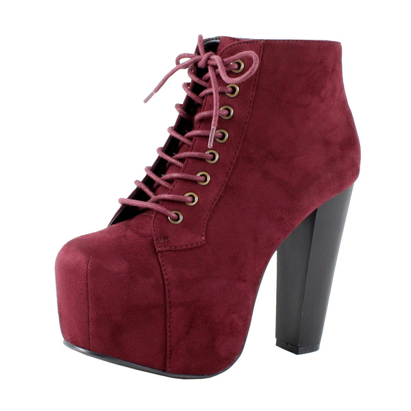 Rosa-S Hidden Platform Ankle Booties