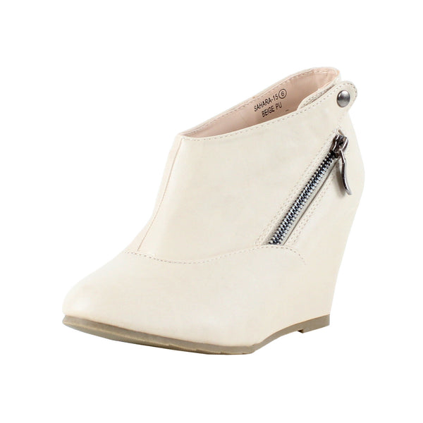 Sahara-15 High Heel Wedge Ankle Boots