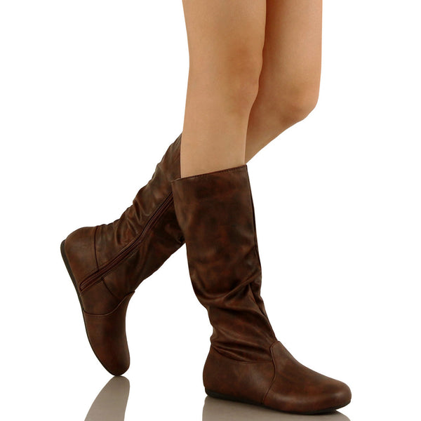 Guilty Heart - Lightweight Mid Calf Flat Boot (Previously Guilty Shoes)