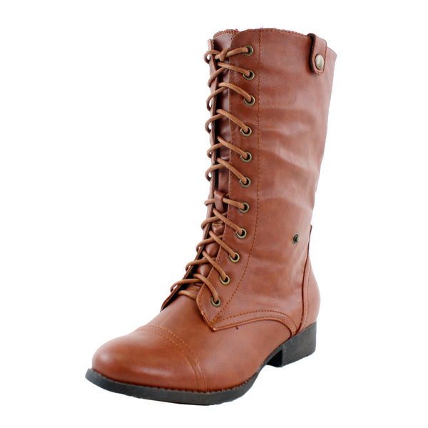 Sharpery-1 Fold Over Combat Boots