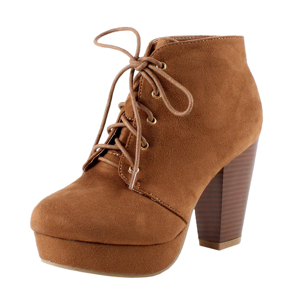 Sian Bootie Chunky High Heel Ankle Boots