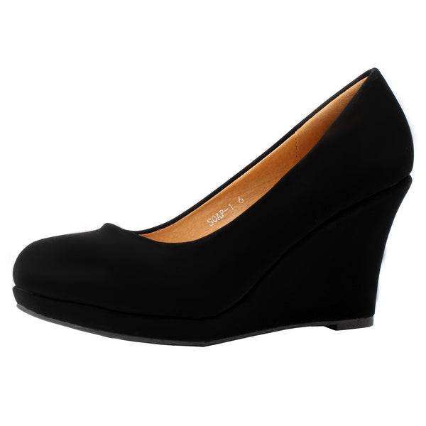 Soap-1 Wedges Slip On Pumps