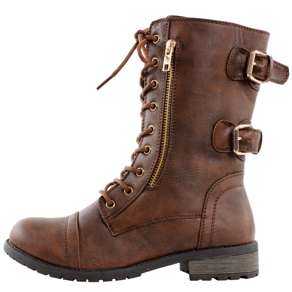 Sydney Lace Up Combat Ankle Boots