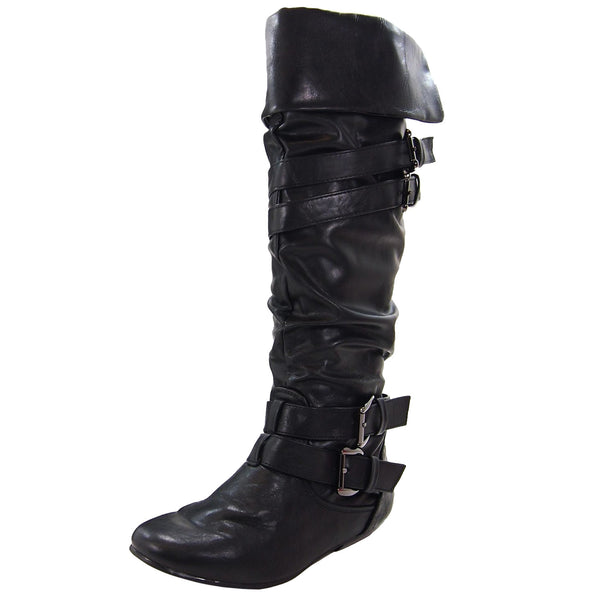 Tamika-42 Cuff Slouchy Knee High Boots