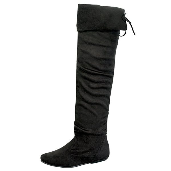 Tammy-58 Thigh High Fold Over Cuff Boots