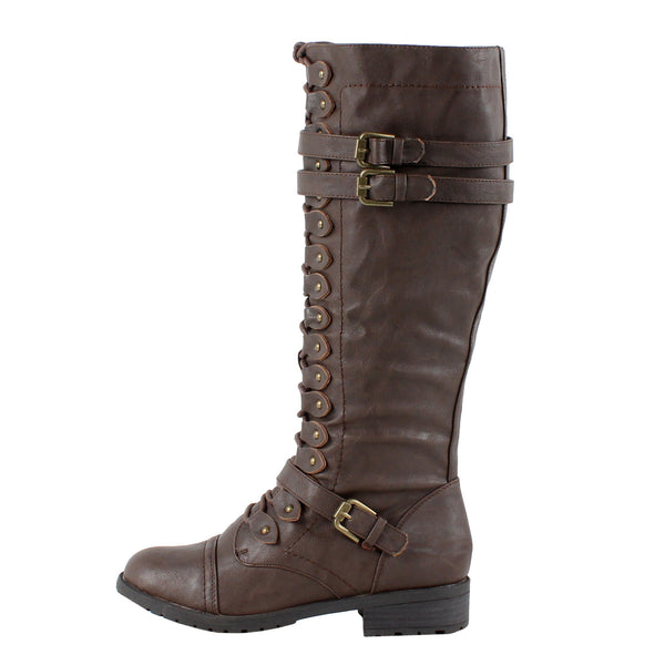 Timberly-65 Knee High Military Boots