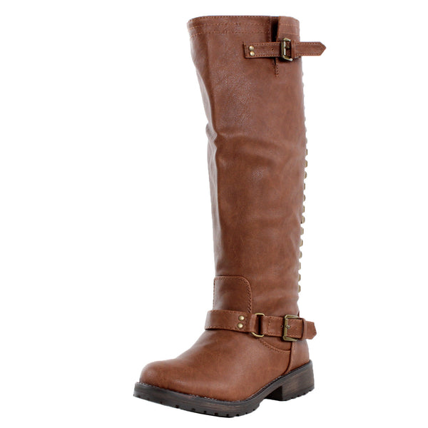 Trooper-14 Studded Knee High Combat Riding Boots