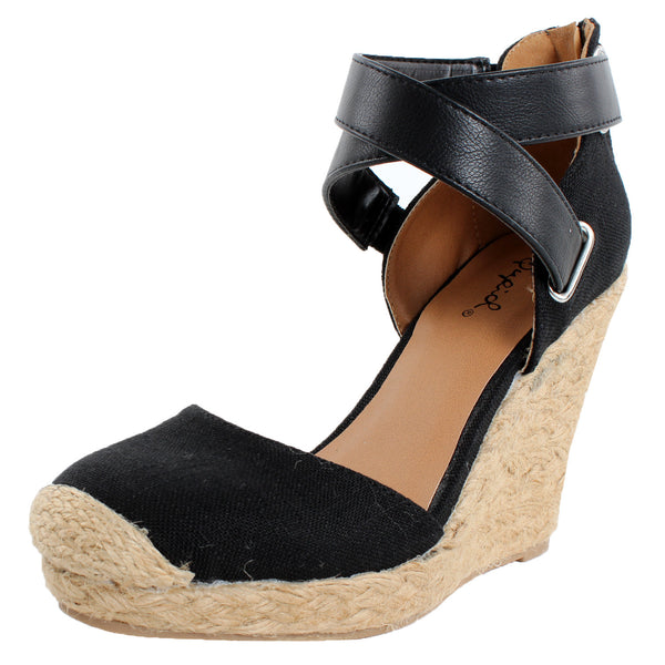 Val-40A Espadrille Wedge Sandals