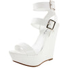 Valery-11 Open Toe Ankle Strap Platform Sandals