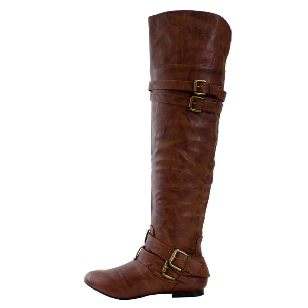 Vickie16h Over the Knee Slouchy Riding Boots
