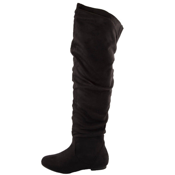 Vickie Hi Casual Pull On Thigh High Boots