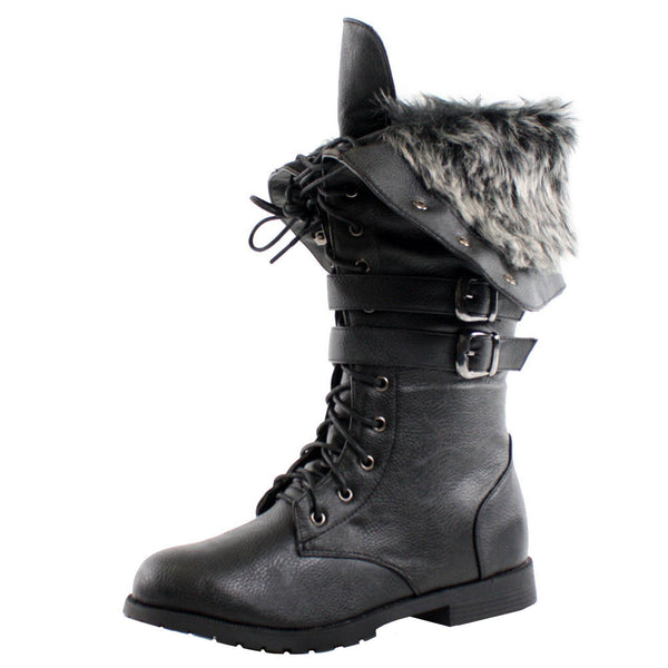 Shanghai Winter Lace Up Combat Boots
