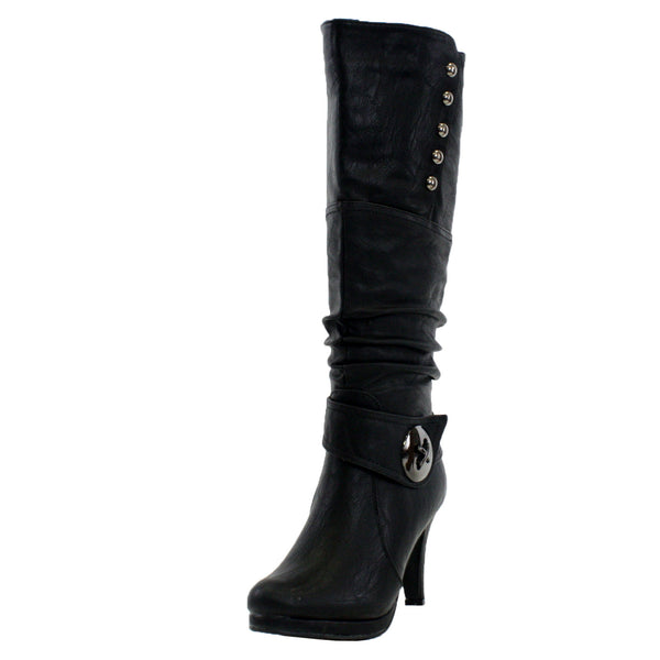 Win-45 Slouchy Knee High Boots