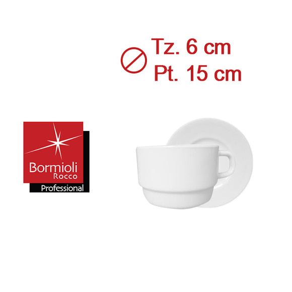 PERFORMA TAZA TE 22cl APILABLE C/PLATO