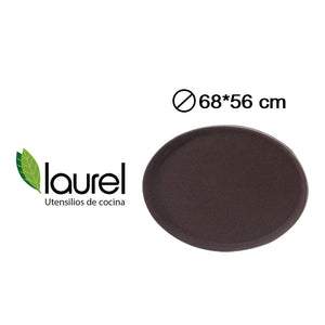 BANDEJA OVAL  68x56 MARRON #2700ct