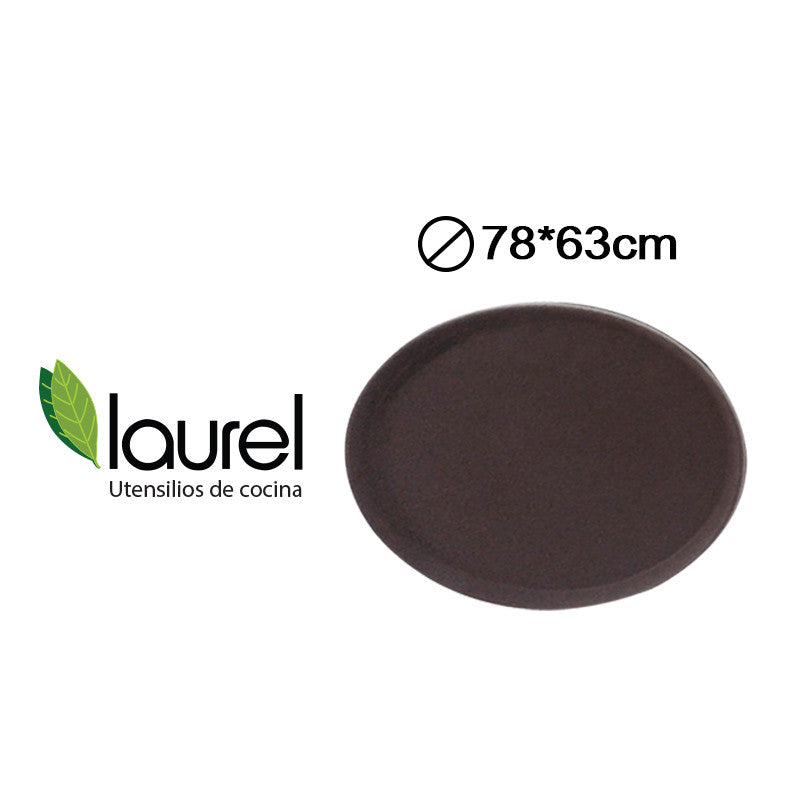 BANDEJA OVAL  78X63cm MARRON #3100CT