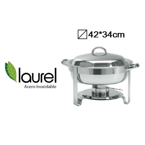 CHAFING DISH A/I RED. 42x34cm 3.5Lts #8311