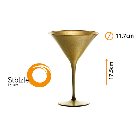 OLYMPIC COPA MARTINI GOLD 8oz #14083/25