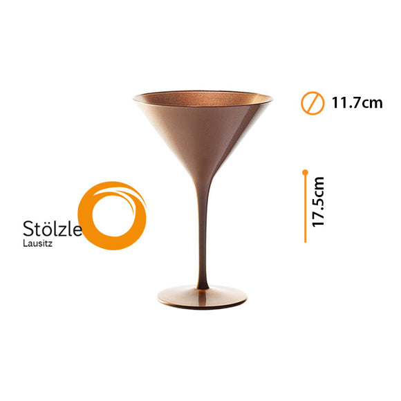 OLYMPIC COPA MARTINI BRONZE 8oz #14085/25