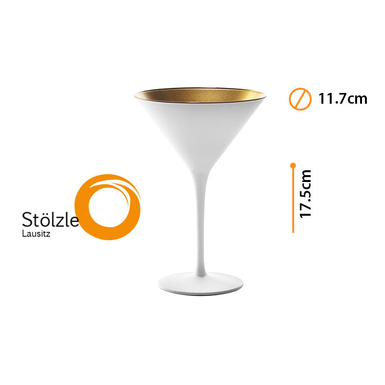 OLYMPIC COPA MARTINI WHITE/GOLD #1408625 8oz