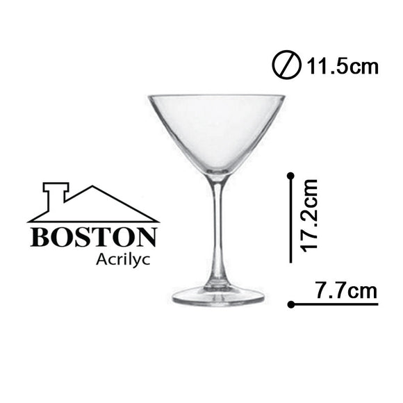 BOSTON ACRYLIC COPA MARTINI SAN 12ozs #AC-0706