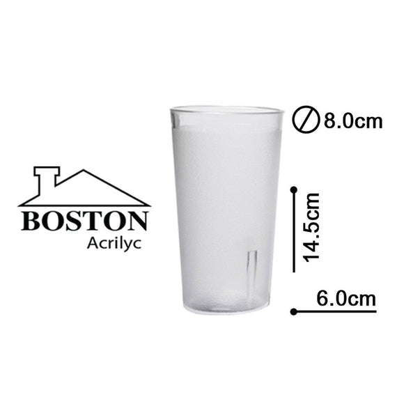 BOSTON ACRYLIC VASO HB CLEAR 16ozs #HY-1073