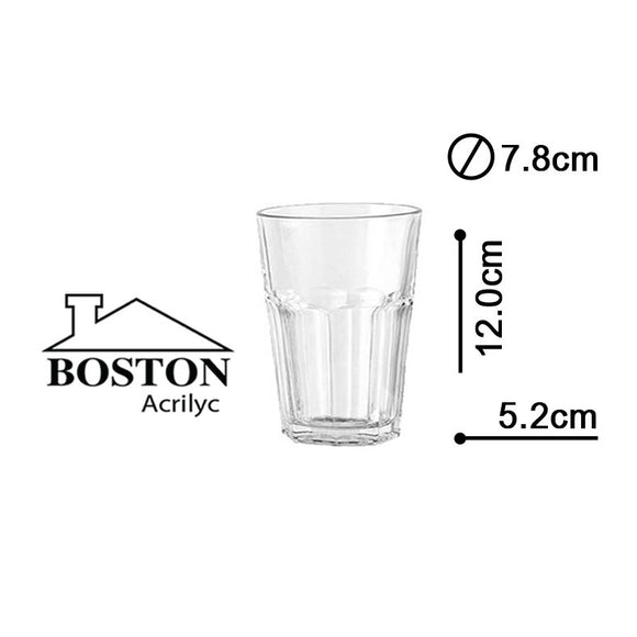 BOSTON ACRYLIC VASO HB 12ozs #HY-1104
