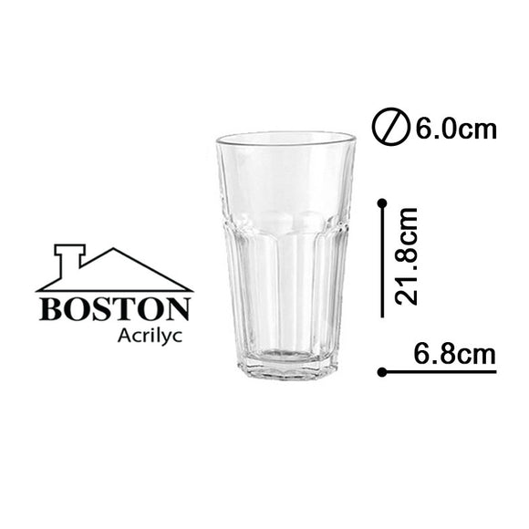 BOSTON ACRYLIC VASO HB  16ozs #HY-0906