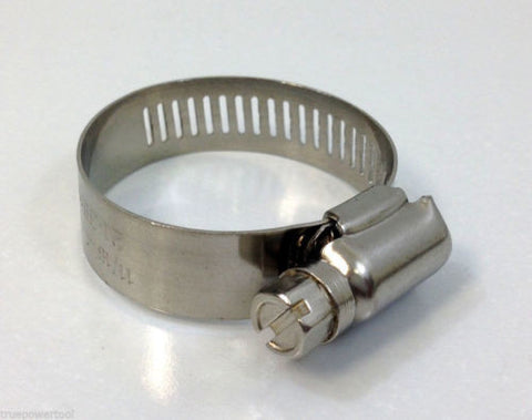 "10 PIECE PACK MARINE GRADE STAINLESS STEEL HOSE CLAMP, 11/16"" - 1-1/2"" = 21-38mm"