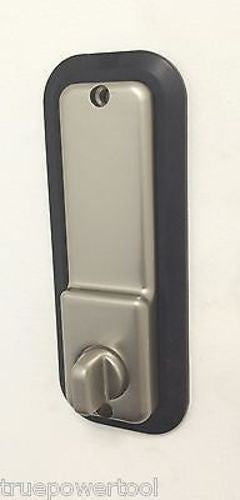 All Weather Mechanical Keyless Deadbolt Door Lock Satin