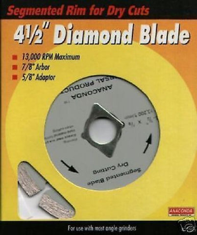 "DIAMOND GRINDER BLADES - 4.5"" DRY CUT 2 PACK"