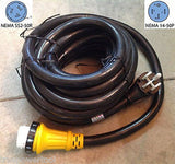 6/3+8/1 25 foot 50 amp RV Power Cord w/ Marinco Twist Lock Locking Connector