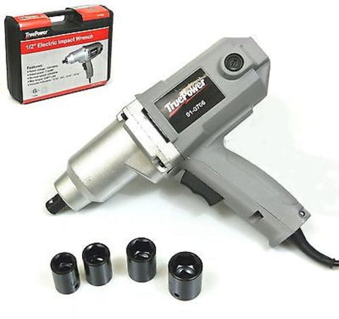 "1/2"" ELECTRIC IMPACT WRENCH-NEW -220 FtLbs, SOCKTS,CASE"