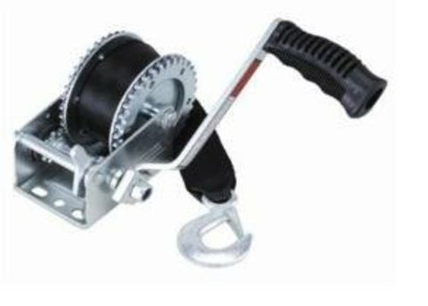 1600lb Trailer Winch - 20ft Strap, 4:1 Gear Ratio D-603