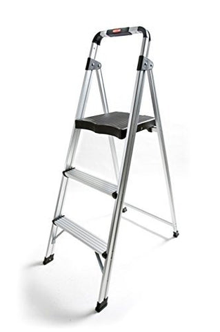 TruePower 3-Step Aluminum Ultra-Light Step Stool Ladder with 225 lb. Load Capacity