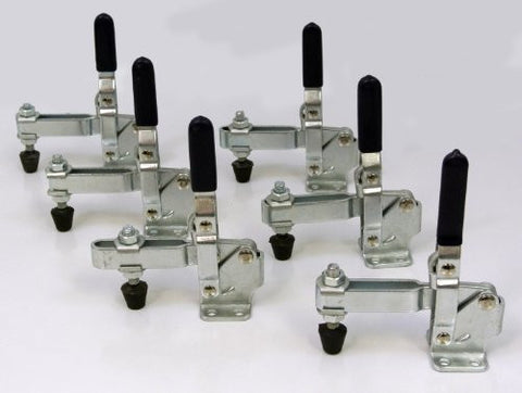 Set of 6 Vertical Quick-Release Toggle Clamp 500lb Capacity