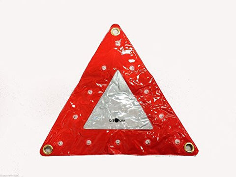 "14"" x 14"", LED Safety Flashing Warning Triangle"