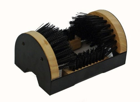 Floor Mount Boot Scrubber Brush w/scraper