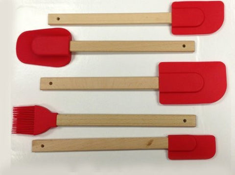 5 Pc Silicone Spatula Cookware Set
