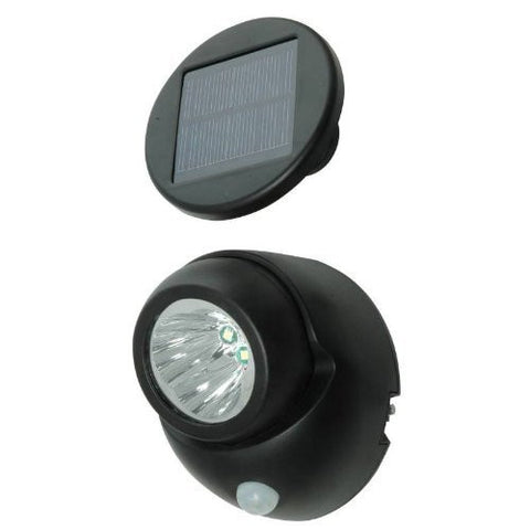 Solar Power Security Spotlight with Motion Sensor, 100 Lumen