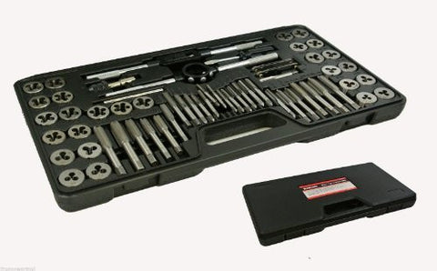 60 Piece Alloy Steel SAE / Metric Tap And Die Set