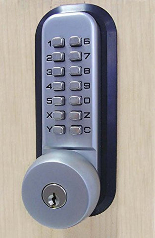 All-Weather Mechanical Keyless Deadbolt Door Lock - Satin Chrome